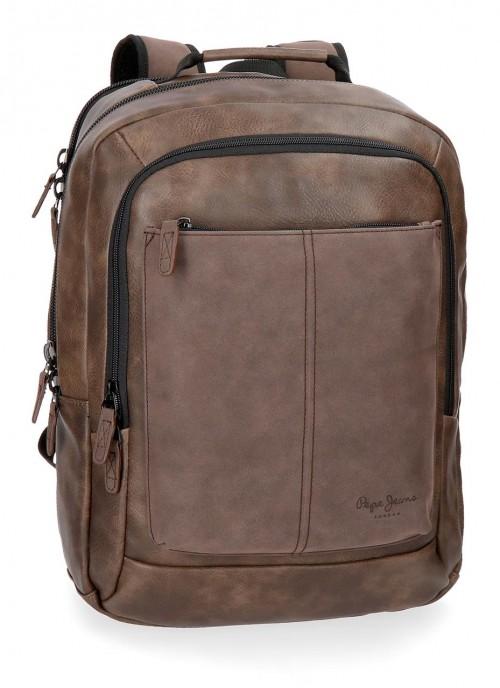 7382762 mochila doble c. portaordenador cranford marrón