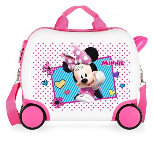2391062 maleta infantil 41 cm 4 ruedas joy minnie
