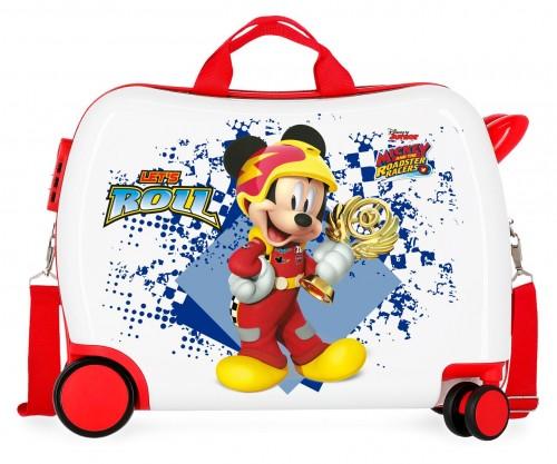 2399861 maleta infantil 50 cm ruedas delanteras multidireccionales joy mickey