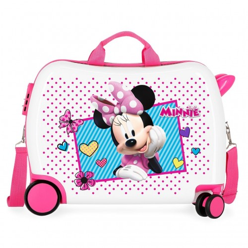 2399862 maleta infantil 50 cm  joy minnie ruedas delanteras multidireccionables