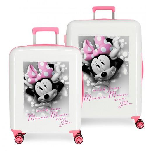 3669763 juego maletas cabina y mediana minnie style