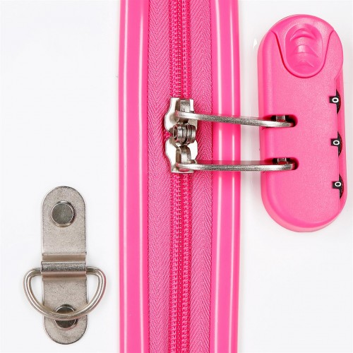 4641062 maleta infantil 50 cm 4 ruedas minnie good mood cerradura combinación
