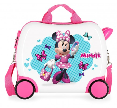 4641062 maleta infantil 50 cm 4 ruedas minnie good mood