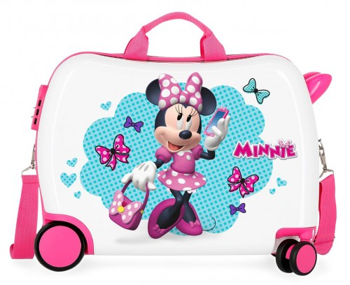 4649862 maleta infantil 50 cm good mood minnie ruedas delanteras redireccionables