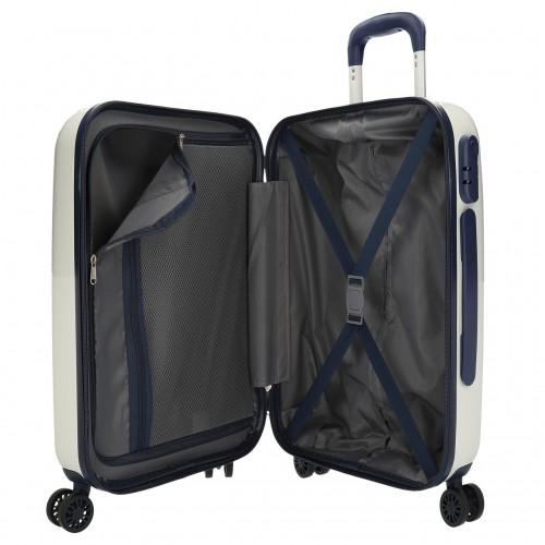 7681061 maleta cabina pepe jeans luggage blanco interior