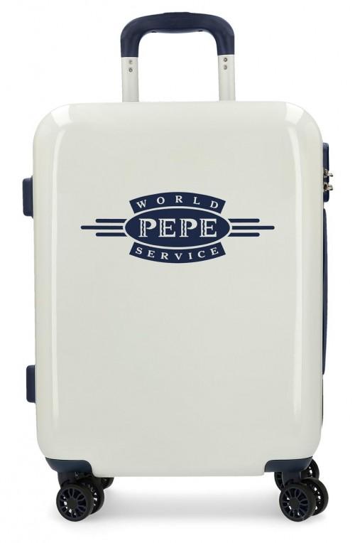 7681061 maleta cabina pepe jeans luggage blanco