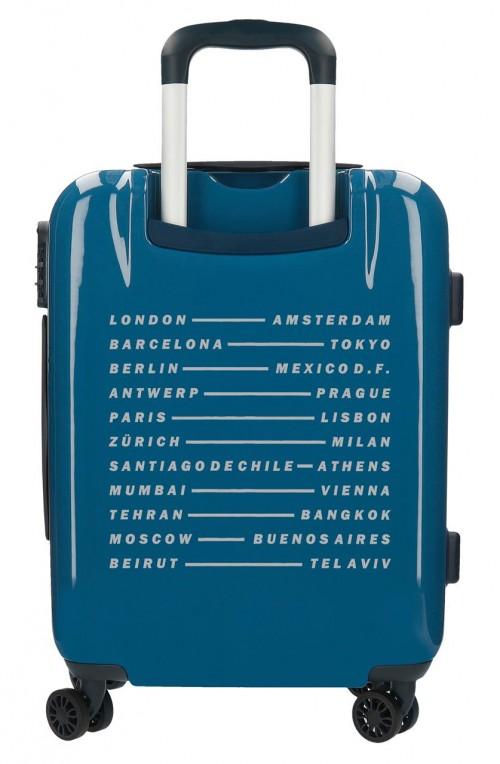 7681063 aleta cabina pepe jeans luggage azul trasera