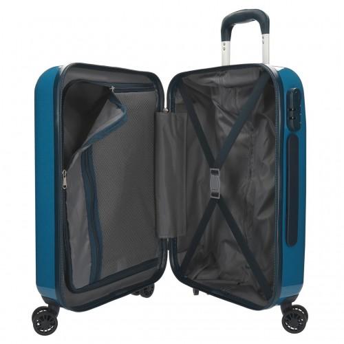 7681063  maleta cabina pepe jeans luggage azul interior