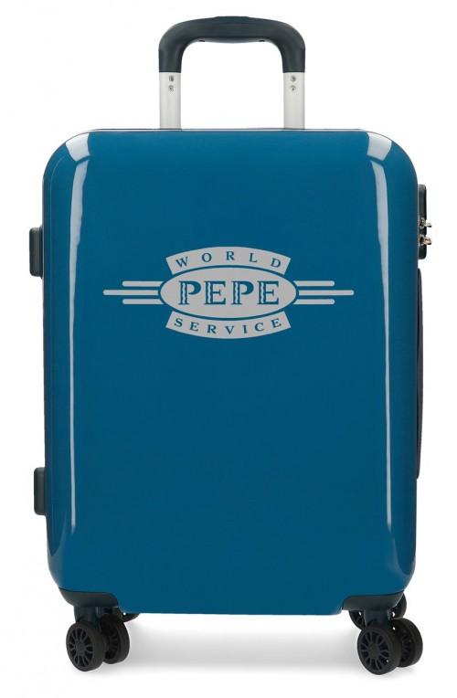 7681063  maleta cabina pepe jeans luggage azul