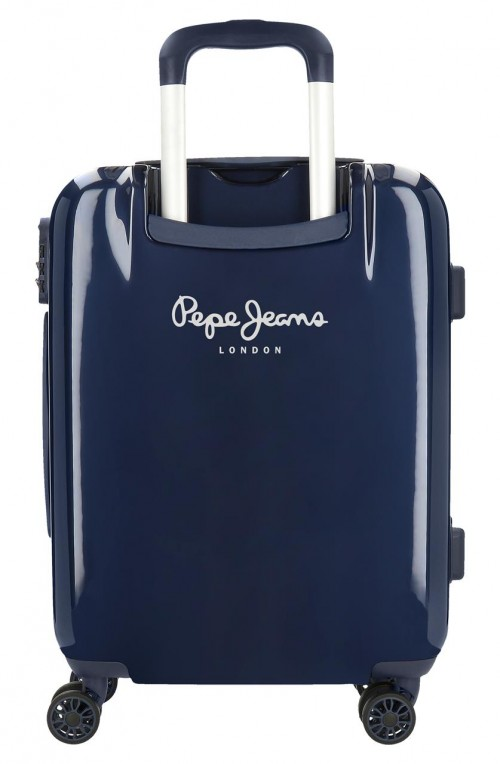 7681163  maleta cabina pepe jeans luggage london marino trasera