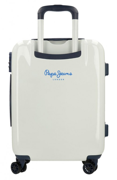 7681261 maleta cabina pepe jeans luggage perfect beige trasera