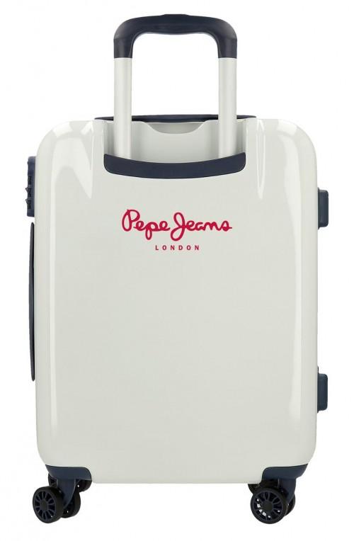 7681361 maleta cabina Pepe Jeans Luggage Quality Blanca trasera