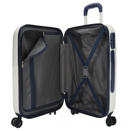 7681361 maleta cabina Pepe Jeans Luggage Quality Blanca interior
