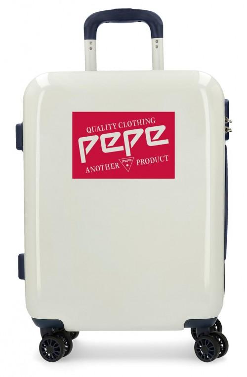 7681361 maleta cabina Pepe Jeans Luggage Quality Blanca