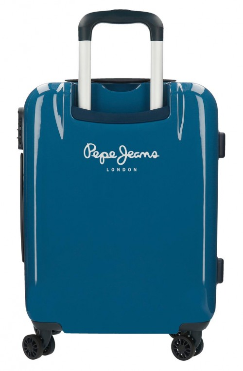 7681362  maleta cabina Pepe Jeans Luggage Quality azul trasera