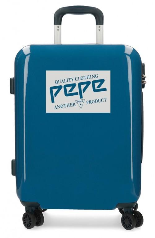 7681362  maleta cabina Pepe Jeans Luggage Quality azul