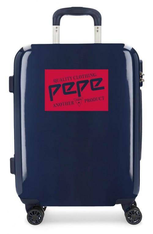 7681363 maleta cabina Pepe Jeans Luggage Quality marino