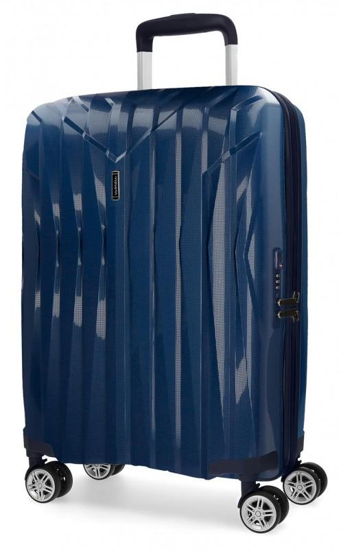 5889162 maleta de cabina movom fuji azul en polipropileno