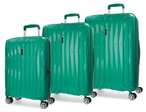 5889465 juego maletas cabina, mediana y grande movom fuji turquesa
