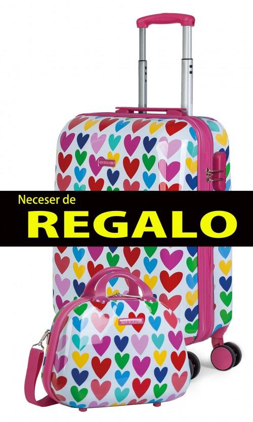 130650 maleta de cabina agatha ruiz de la prada corazones