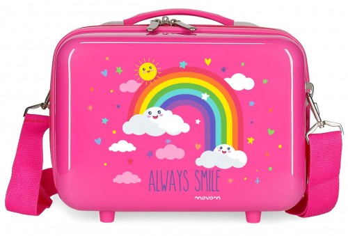 2183921 neceser arcoiris movom always smile rosa