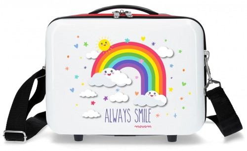 2183922 neceser arcoiris movom always smile blanco