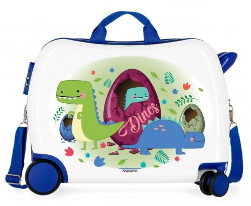 3729867 maleta infantil 4 ruedas movom dinos