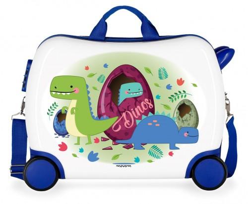 3729967 maleta infantil 4 ruedas movom dinos