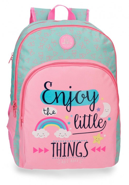4452661 mochila 44 cm doble reforzada roll road little things