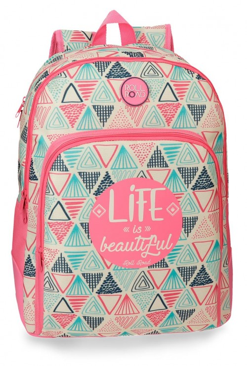 4462661 mochila 44 cm doble comp. roll road life