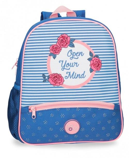 4482261 mochila pequeña 33 cm roll road rose