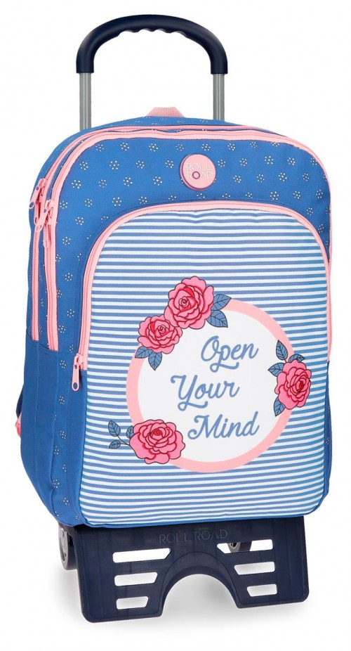 44824N1 mochila 42 cm doble con caarro roll road rose