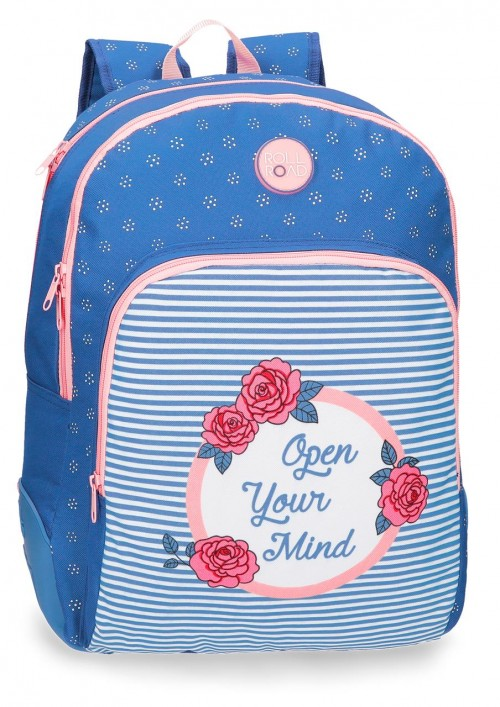4482661 mochila 44 cm doble con carro roll road rose