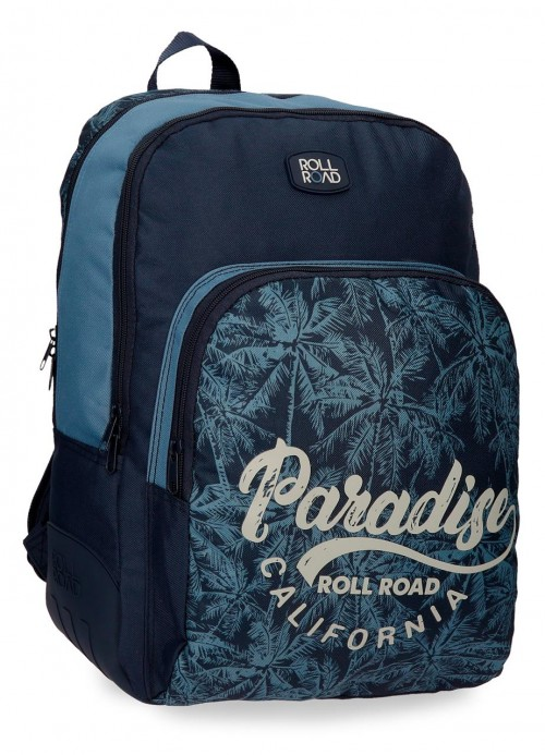 4522661mochila 44 cm 2 comp. reforzada roll road palm