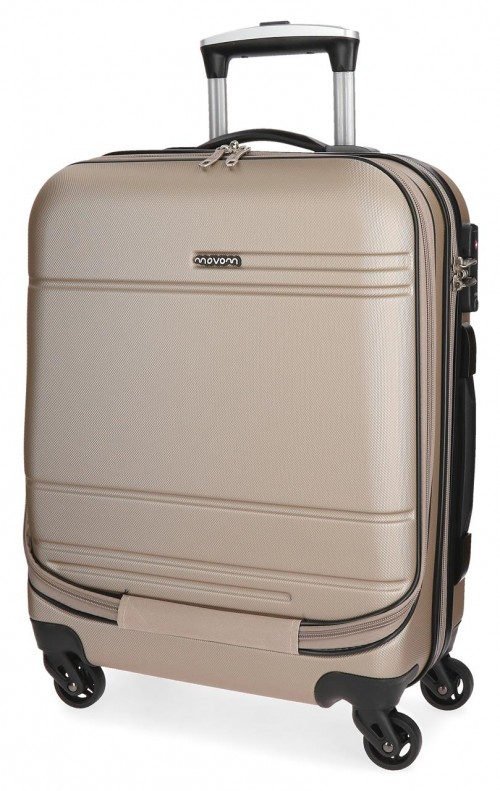 5611263  maleta cabina 4 ruedas movom galaxy champagne portaordenador