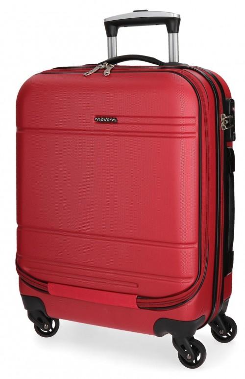 5611265 maleta cabina 4 ruedas movom galaxy roja portaordenador