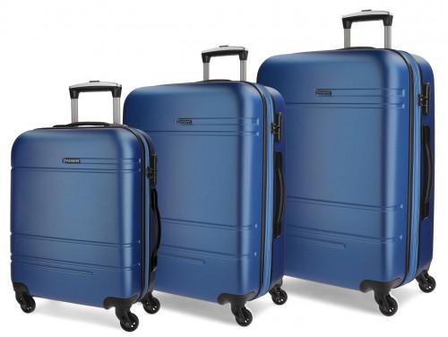 5619462  juego maletas cabina, mediana y grande movom galaxy azul