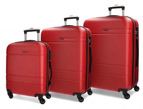 5619465 juego maletas cabina, mediana y grande movom galaxy roja