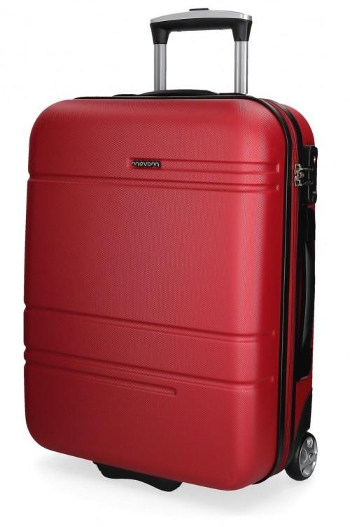 5619965 maleta cabina 2 ruedas movom galaxy roja