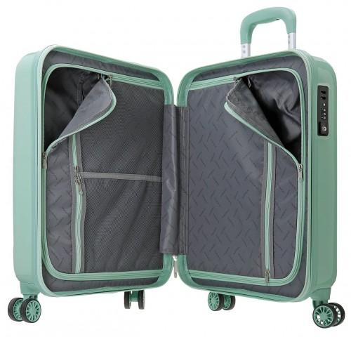 5799162  maleta de cabina movom trafalgar verde interior