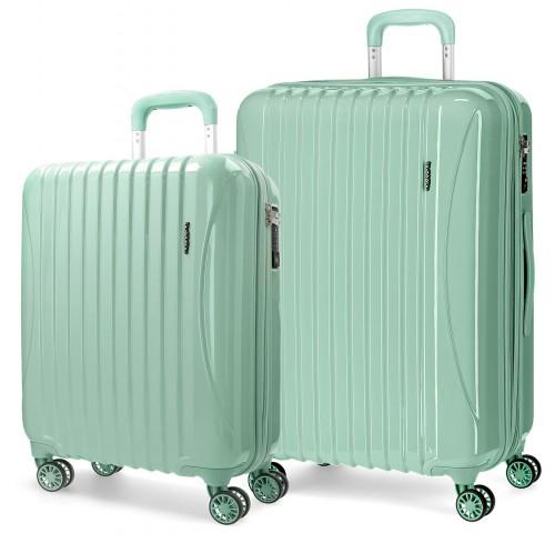 5799562 juego maletas cabina y mediana movom trafalgar verde