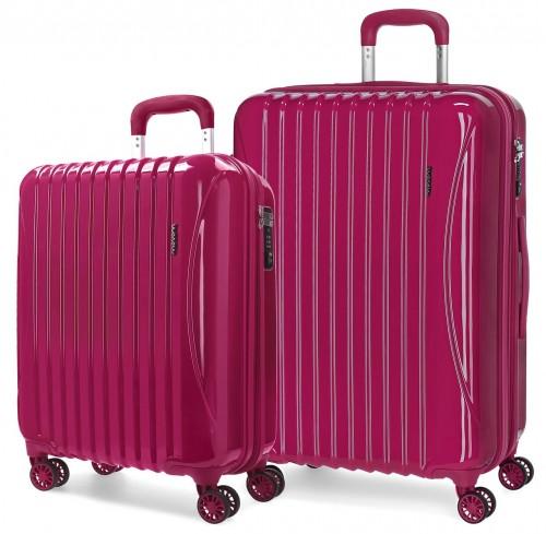5799563 juego maletas cabina y mediana movom trafalgar roja