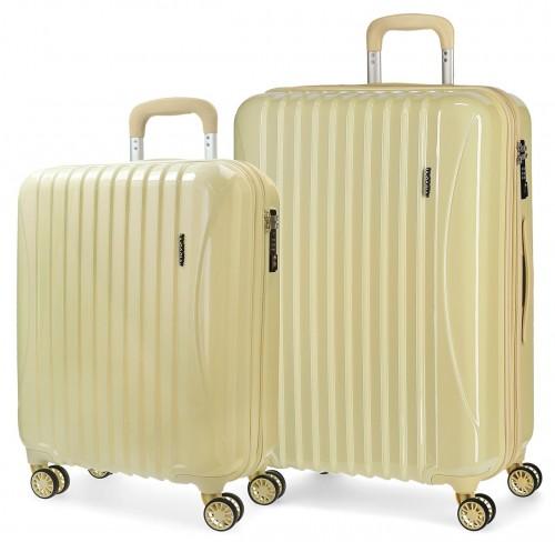 5799564 juego maletas cabina y mediana movom trafalgar amarilla