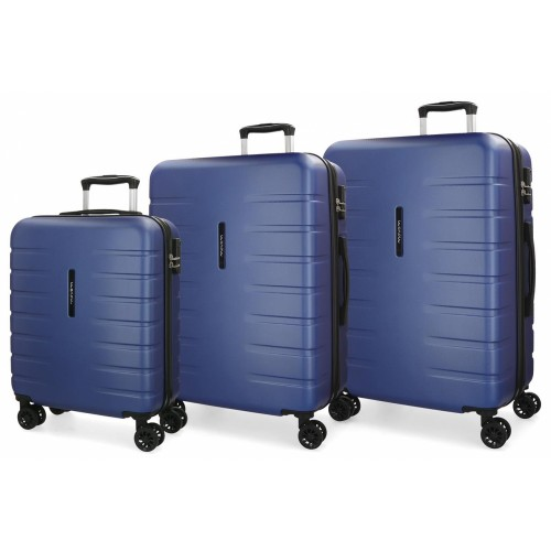 5829465 juego maletas cabina + mediana + grande movom turbo azul