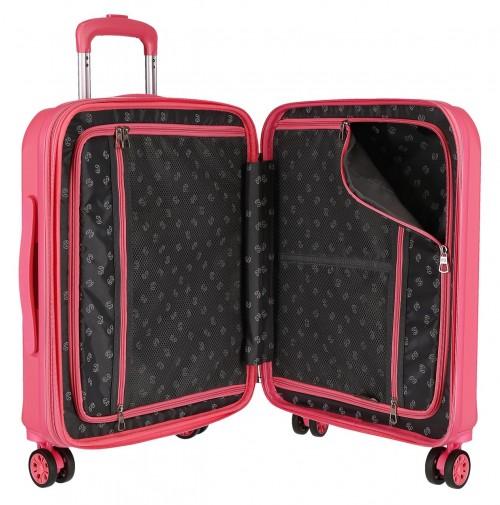 5948661 maleta de cabina pepe jeans glasgow rosa interior