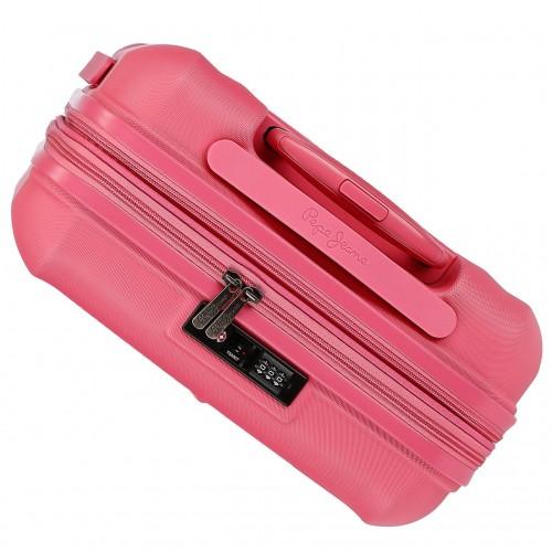 5948661 maleta de cabina pepe jeans glasgow rosa vista superior