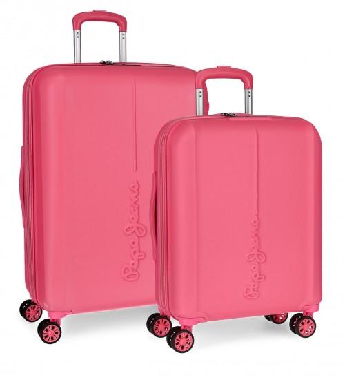 5948961 juego maletas cabina y mediana pepe jeans glasgow