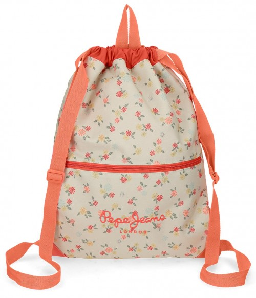 6253861 gym sac pepe jeans loseline con cremallera frontal