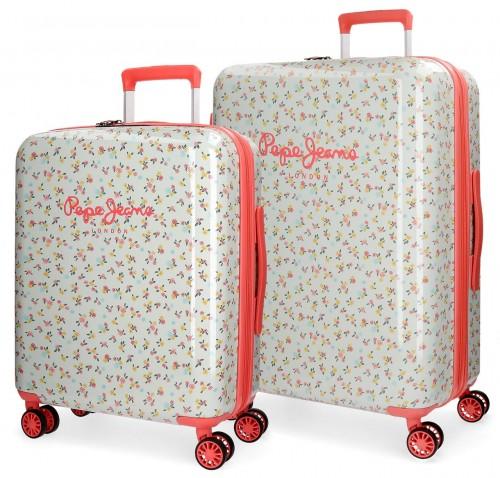 6257261 juego maletas cabina y mediana pepe jeans joseline