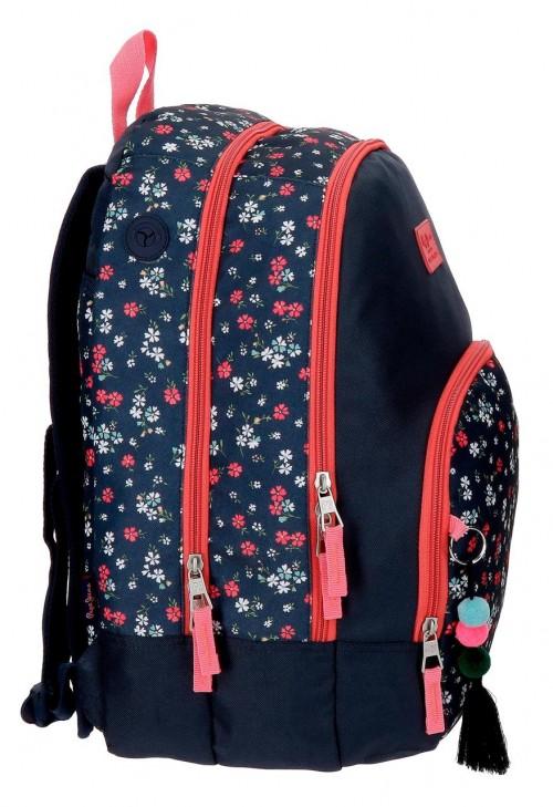 6262561 mochila 44 cm doble comp. pepe jeans jareth lateral